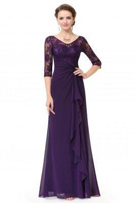 Women's Purple Lace Half...