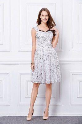 Printed Short Chiffon Casual Dress