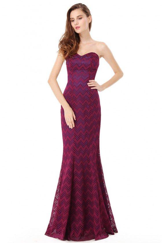 Sweetheart Lace Mermaid Long Prom Dress