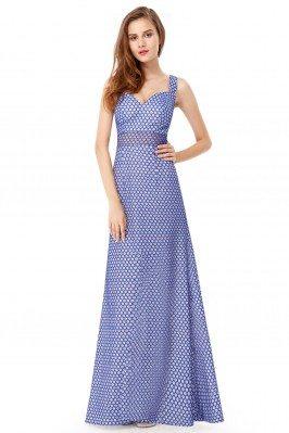 Royal Blue Sleeveless Long Party Dress - EP08961SB