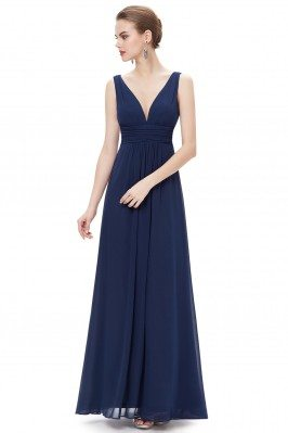 Simple Navy Blue Double...