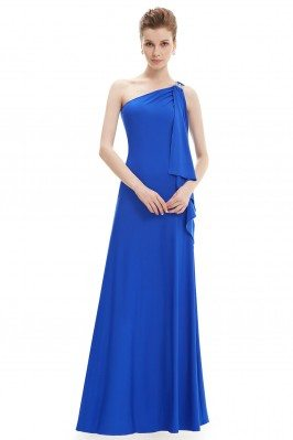 Blue Sleek One Shoulder...