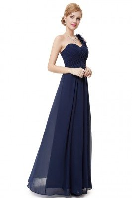 Navy Blue Flowers One...
