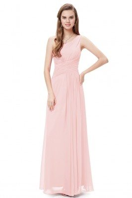 Elegant Pink One Shoulder...