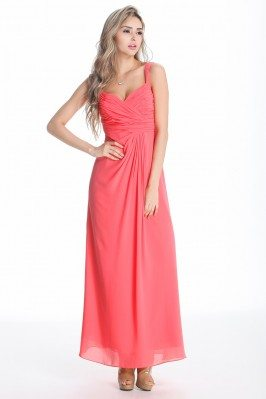 Simple Chiffon Long Bridesmaid Dress