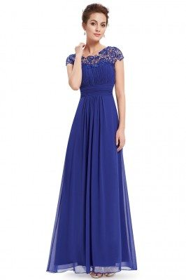 Royal Blue Lacey Neckline...