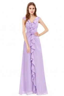 Stylish Ruffled Lilac...