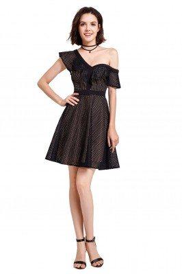 Gorgeous Black Short Sleeve...