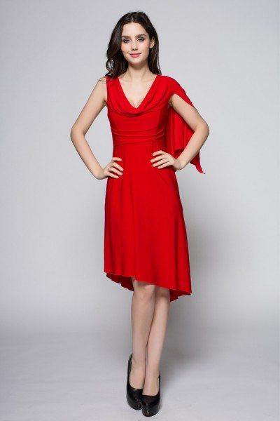 Little Red Sleeveless Short Dress