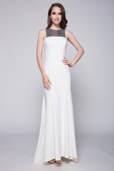 Celebrity Sequin And White Long Formal Dress