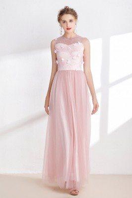 Blush Pink Tulle Floral...