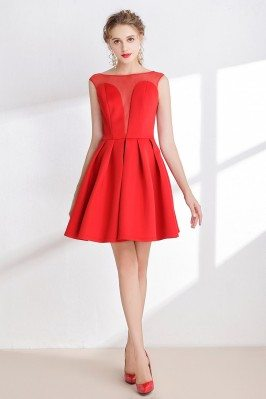 Hot Red Satin Prom Dress...