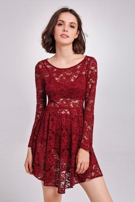 Burgundy Sheer Lace...