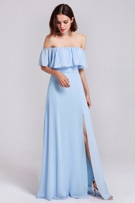 Baby Blue Off Shoulder...