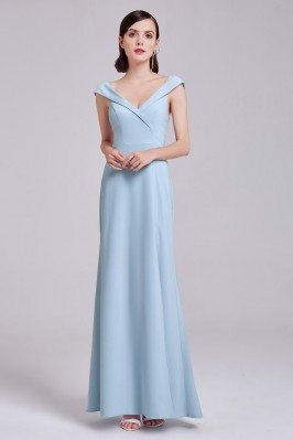 Light Blue Sweetheart Long...