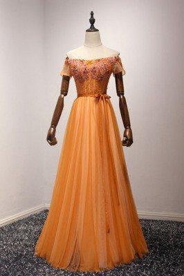 Orange Vintage Long Beaded...