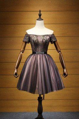 Vintage Black Beaded Prom...