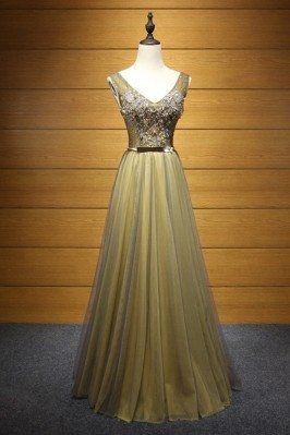 Casual Long Formal Tulle...