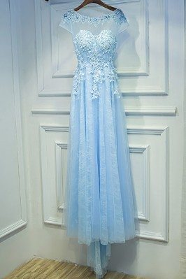 Gorgeous Sky Blue Long Prom...