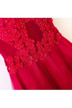 Burgundy Long Off Shoulder Formal Party Dress With Straps - MYX18070