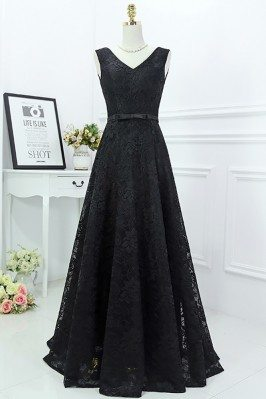 Classy Long Black Lace...