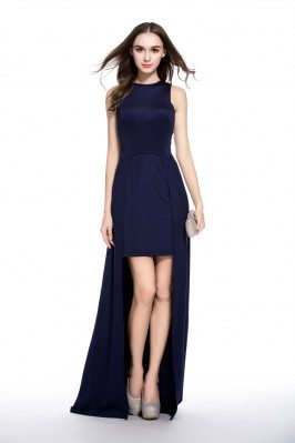 Chic High Low Simple Prom Dress