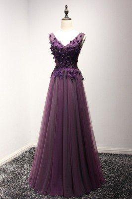 2018 Spring Long Purple...