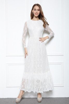 Lace Long Sleeve Maxi Dress