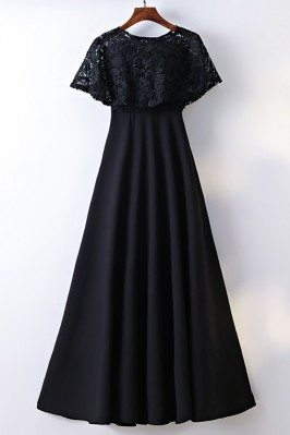 Classy Cape Sleeve Lace...