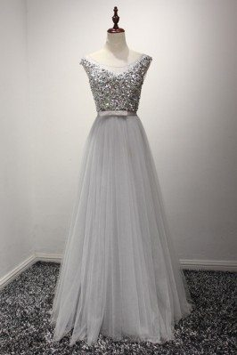 Sparkly Sequined Grey...