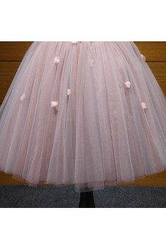 Cute Short Pink Beaded Homecoming Dress For Curvy Girls 2018 - AKE18067