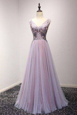 Elegant Lilac Long Formal...