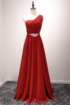 Bling-bling Long Red Prom...