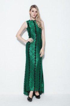 Vintage Lace Open Back Long Party Dress