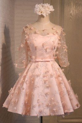 Cute Short Pink Homecoming...