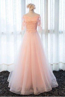 Gorgeous Long Pink Tulle A...