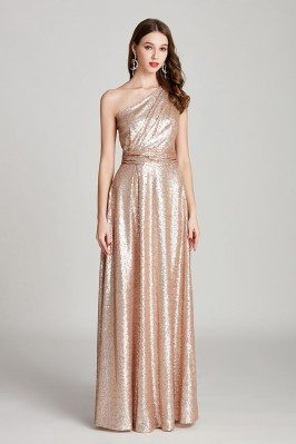 Sparkly Pleated Long Gold...