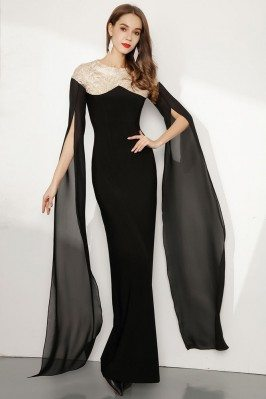 Slender Black Long Sleeved...