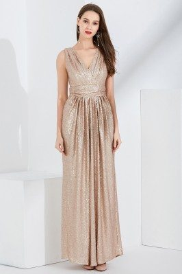 Sparkly Gold Sequin Pleated...