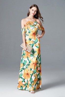 Long Yellow Floral Printed...