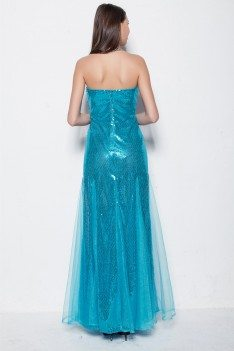 Sparkly Fitted Mermaid Long Party Dress - CK284