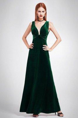 Dark Green Sexy Velvet...