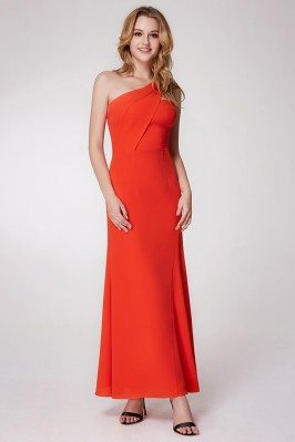 Orange Simple Chiffon...
