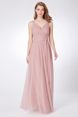 Dusty Rose Simple Pleated...