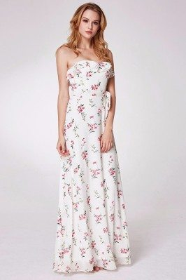 White And Pink Flora Print...
