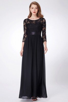 Elegant Black Chiffon...