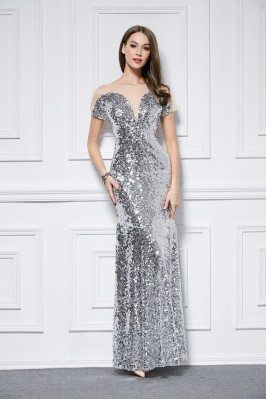 Sparkly Sequins Long Evening Dress