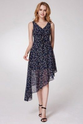 Romantic Flora Print Navy...
