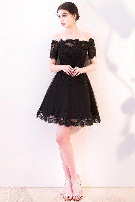 Short Black Lace Homecoming...