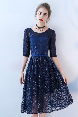 Navy Blue Sequined Party...
